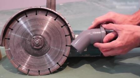 开槽机灰尘大?简单制作一个集尘器来解决