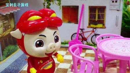 宝利亲子游戏 第一季 小猪佩奇没钱买蛋糕 打工卖冰激凌  小猪佩奇打工卖冰激凌