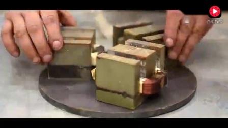 微波炉改造的电磁铁,可承受几百斤的重量