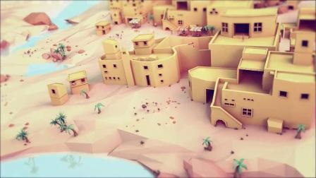 VR low poly 沙漠场景