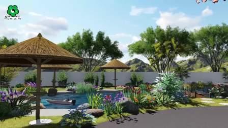 五行园林-特色小镇设计公司-园林规划设计效果图-园林绿化设计施工-私家庭院设计