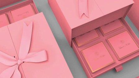翻盖双层鲜花慕斯蛋糕礼盒包装定制高档礼盒永生花礼盒gift box 印乾包装