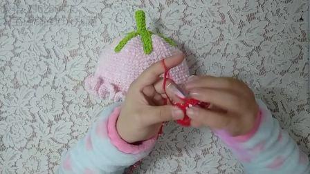 草莓帽萌点点草莓帽子