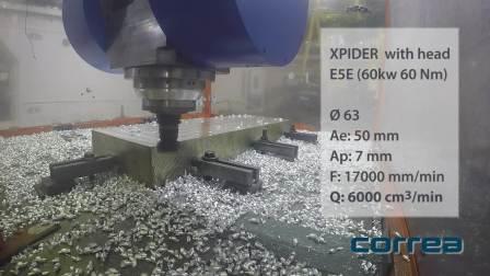 CORREA 高速高架桥式加工中心 XPIDER _试切演示