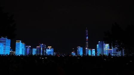 2018年8月26日深圳特区38岁生日之市民中心灯光秀,画面很美,可惜了背景音乐