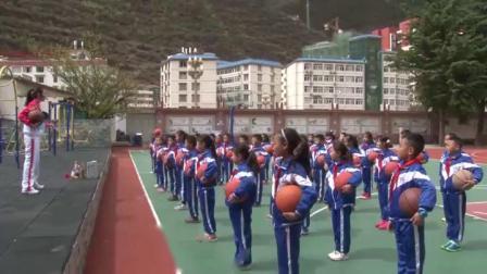 《篮球-右手原地运球》优质课(三年级体育,马礼蓉)