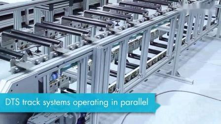 垂直安装的双轨道环形导轨传输系统