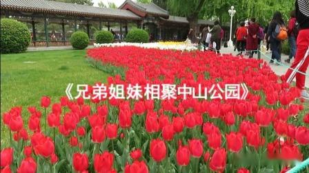 中山公园跳起广场舞《人说山西好风光》2019年4月21日。