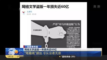 """上海早晨 2019 网络文学盗版一年损失近60亿:""""笔趣阁""""频出  令从业者无奈"""