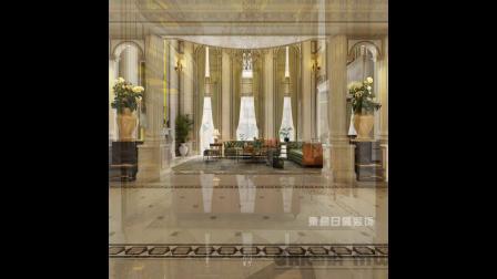 重庆融创玫瑰园600平米法式风格别墅装修效果图