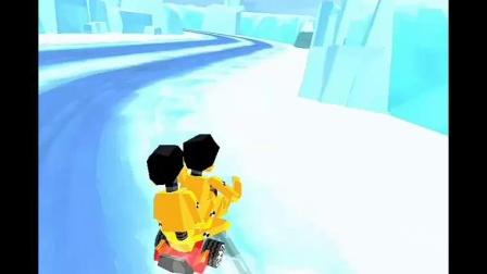 拇指漂移-冰路 俩兄弟的三轮车也杠杠滴