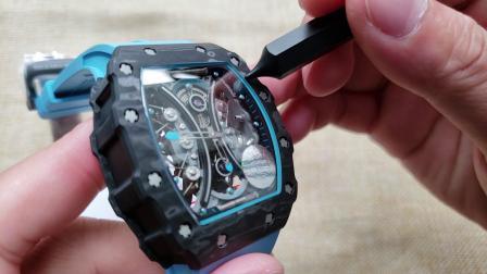 JB理查德米勒RM53-01陀飞轮腕表 全碳钎维表壳