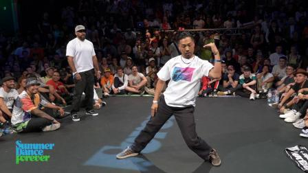 Boogie Frantick vs 古冲 TOP 12 JUDGES Popping - Summer Dance Forever 2019