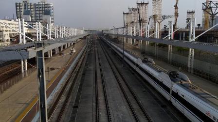G1162(广州南—武汉)本务武汉局武汉段,搭载CRH380AL型车底,广州北站4站台发车;G6169(怀化南—广州南)高速通过广州北站