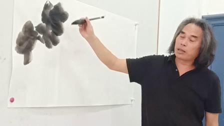 刘玉海老师教画葡萄叶子与藤蔓