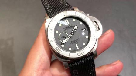 适合大手腕佩戴的腕表沛纳海pam00984钛金属表壳