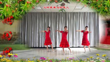 芬苹姐妹广场舞《红枣树》编舞:雨夜