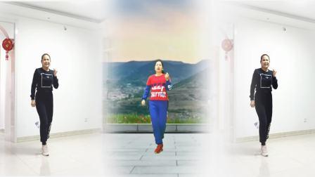 好心情蓝蓝广场舞合屏版健身操【涛声依旧正背面】附老师分解