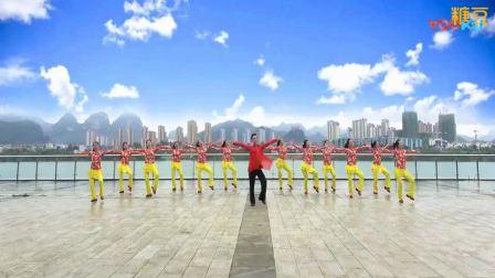 廖弟健身舞《你是上天给我的礼物》正面团体舞蹈演示