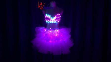 超级性感女孩舞台表演酒吧夜店歌手演出发光服 .mp4