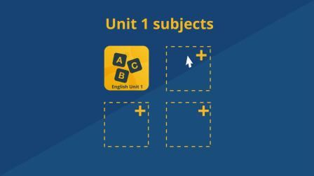 Plan Your Semester 1 Units (Standard)