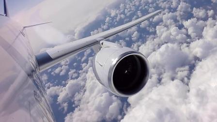 茹科夫斯基格罗莫夫试飞院恢复MS-21-300客机常规试飞(机载视角)