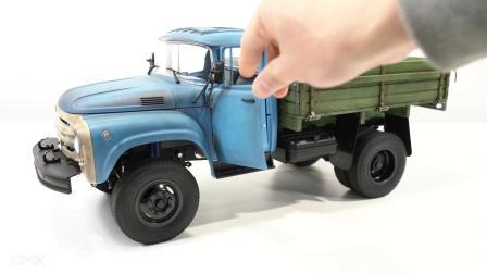 ZIL 130吉尔130木斗货箱卡车模型涂装、旧化、路试