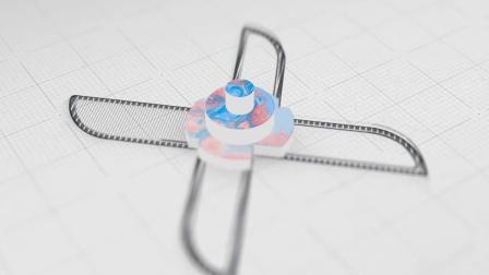 6122-设计稿草图描边波浪生成三维Logo标志片头动画AE模板