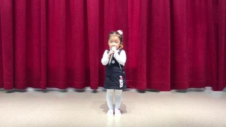 延边三岁女孩唱韩国歌曲《泪雨》大林12TV  하윤이 노래자랑 눈물비