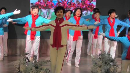 甘肃兰州七里河区银滩快乐舞步健身操队年庆