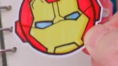 一个圆形画出钢铁侠头像、超简单的简笔画、来试试吧😝