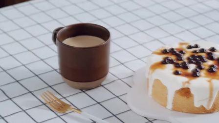 【黑糖波波爆浆蛋糕】你知道把奶盖和珍珠做成蛋糕是什么味道吗?!