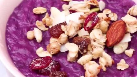 好吃不腻的紫薯燕麦粥,明早就做这个了