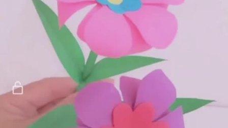 """"""" 幼儿园最简单又好看的手工折纸花🌸"""