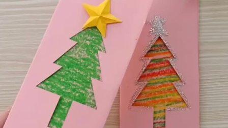 本来想偷懒,没想到好多人问圣诞树贺卡里面怎么做,现在补上