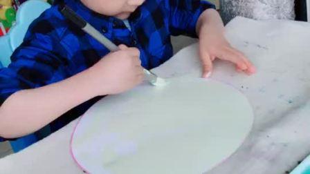 春风花草香,今天给大家带来一幅半立体的手工,材料是卡纸,水粉颜料,超轻粘土,方法简单小孩大孩子都适合!点❤️吧