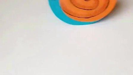 简单的幼儿亲子手工——蜗牛🐌