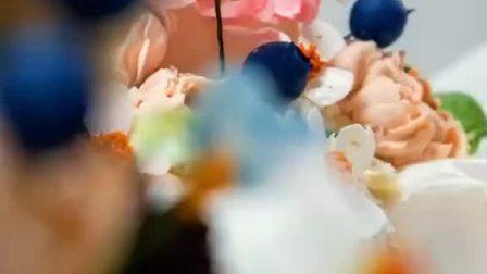 学员的翻糖蛋糕韩式裱花作品!