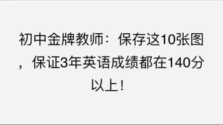 初中金牌教师:保存这10张图,保证3年英语成绩都在140分以上!