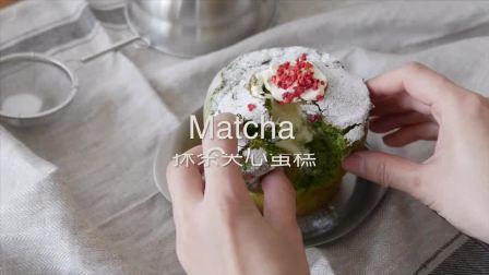 看多了少女心甜品,是时候来个绿色清新的抹茶夹心卡斯提拉蛋糕了~
