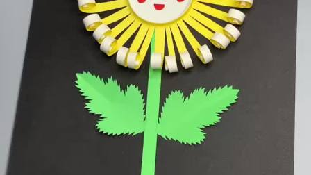 重阳节手工,简单可爱的菊花贺卡送给爷爷奶奶,祝他们重阳节快乐
