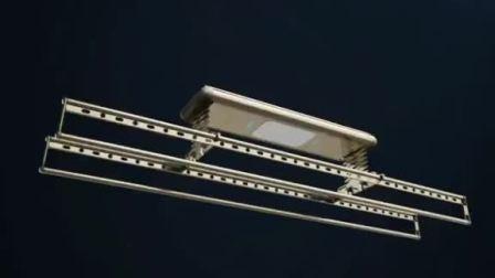全新一代高性价智能晾衣机,加入了隐藏式消毒灯,美观大气,更有66孔大晒量。