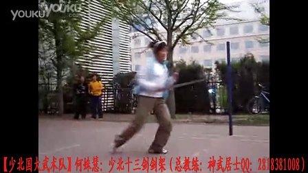 【少北国大武术队】何淑慧:少北十三剑(剑架)