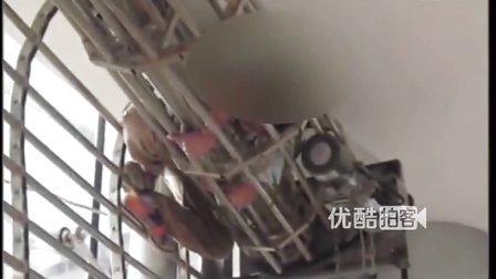 【拍客】实拍湖北四岁男童被电动卷帘门绞死现场