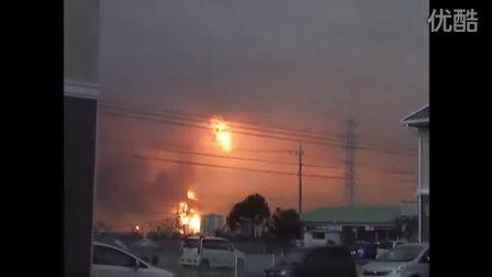 日本宫城地震 - 油库爆炸瞬间