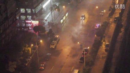 [拍客]6月9日晚武汉光谷突降雷暴雨极端天气恍如审判日降临