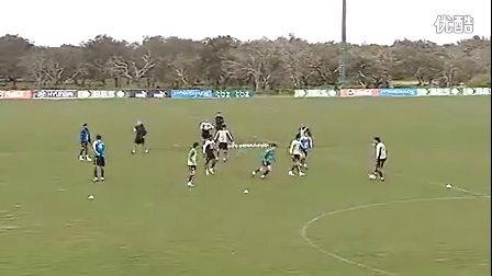 职业队训练:小范围一脚出球,反抢,移动策应(里斯本竞技)