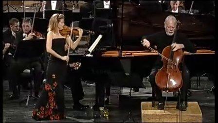 贝多芬《C大调三重协奏曲》(Op.56)穆特小提琴 哈雷尔大提琴 普列文钢琴 马舒尔指挥