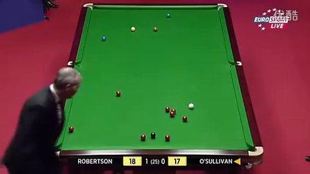R3 奥沙利文(100) vs 罗伯逊 第2局
