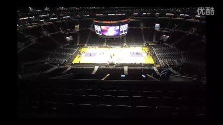 【藤缠楼】斯台普斯球馆:洛杉矶湖人队、国王、快船主场转换延时摄影